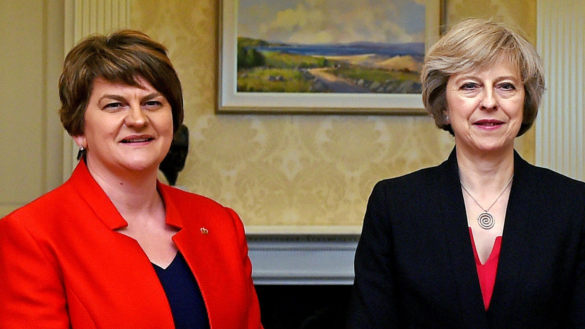Talks between UK PM May's Conservatives and N.Ireland's DUP restart